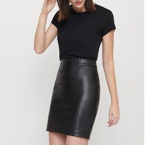 Dynamite Faux Leather Skirt